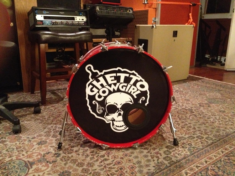 Full Color Custom Bass Drum Head Decal Stickers