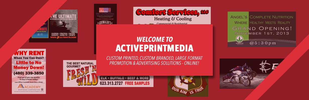 large format printing online vinyl signage banners tents trade show