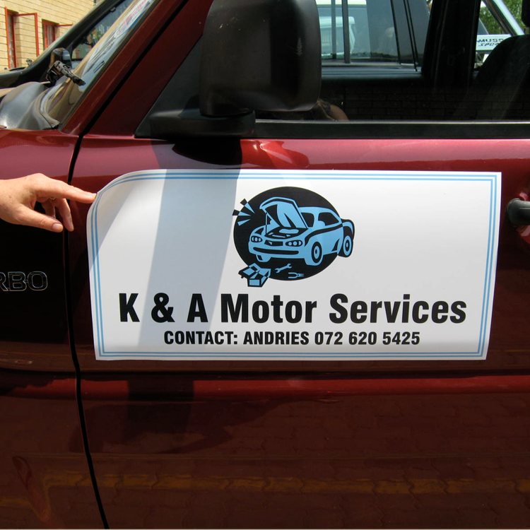 Magnetic Signs For Cars Custom Full Color Starting At 17