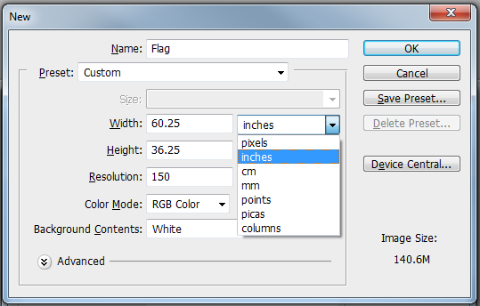 How To Design A Flag Or Banner In Photoshop APM - Vinyl banners sizes