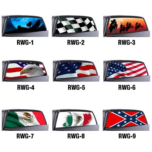 Custom Truck Back Window Decals Rear Window Graphics APM - Rear window decals for trucks